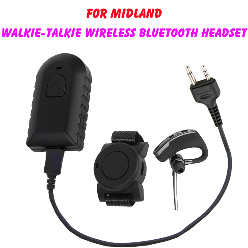Walkie Talkie Wireless Bluetooth Headset Two Way Radio Wireless Headphone Earpiece For Midland Lxt Gxt 75 810 75 786 75 785 Etc Walkie Talkie Parts Accessories Aliexpress