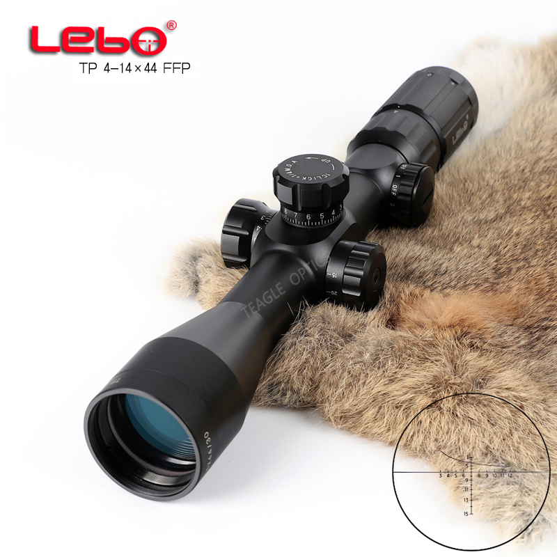 Hunting Riflescope Optical Sight TP 4-14X44 FFP Tactical Riflescope With Mil Dot Reticle With Illumination Rifle Scope