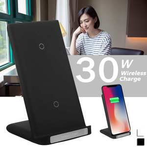 30W Qi Wireless Charger Stand For iPhone 11 pro 8 X XS Samsungs 10 s9 s8 Fast Wireless Charging Station Phone Charger