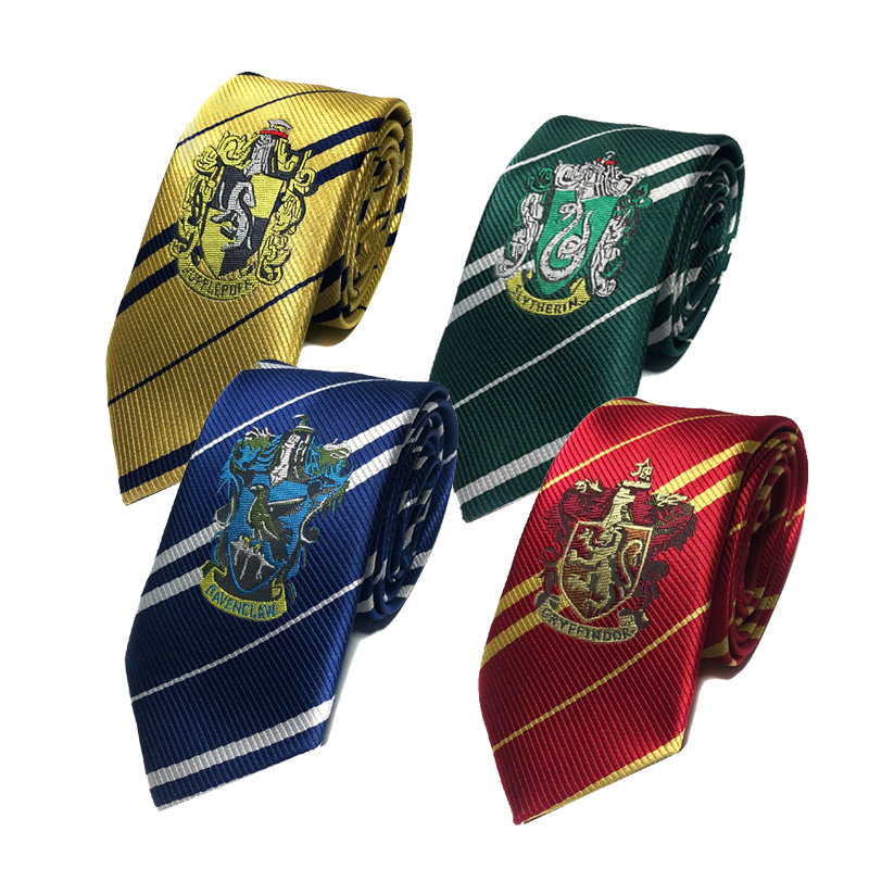 College Tie Gryffindor / Slytherin / Hufflepuff / Ravenclaw Tie Halloween Characters Play Costume Adult  Kids Party Dress Up