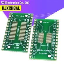 10PCS TSSOP28 SSOP28 SOP28 TO DIP28 Transferบอร์ดDIP PIN PITCH ADAPTER igmopnrq
