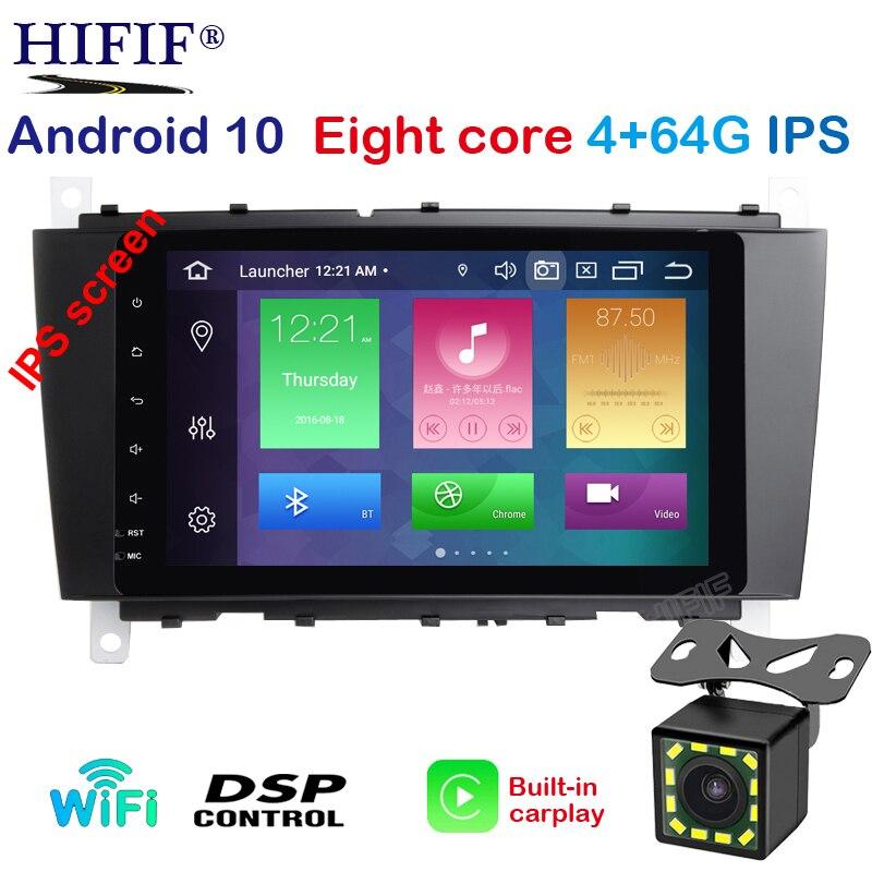 Ips octa núcleo 4gb ram android 10 player de rádio do carro para mercedes benz c clk cls clc classe w203 w209 w219 navegação gps carro