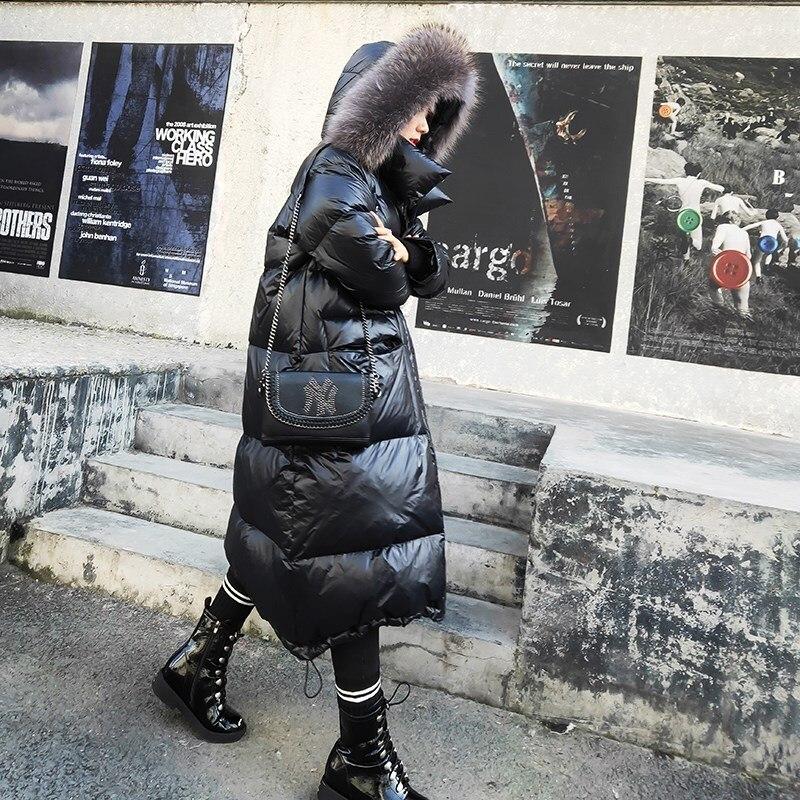 Winter Coat Women Oversized White Duck Down Jacket Woman Big Fur Collar Long Jackets Casacas Para Mujer 2020 M+01 YY1401
