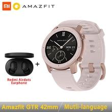 Глобальная версия Amazfit GTR Smart Watch 42 мм 5ATM 24 дней Батарея GPS и ГЛОНАСС Смарт-часы Для женщин часы для мужчин