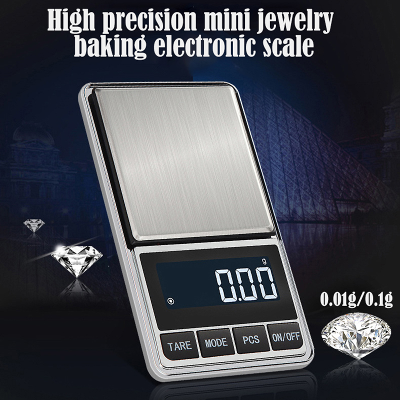 Digital Jewelry Scale High Accuracy Portable Pocket Scale Backlight LCD Display Balance Gram Scale  Scale Precision Portable