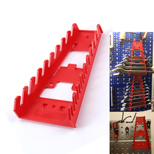 1PC Red Wrench Spanner Tool Organizer Sorter Holder Wall Mounted Tool Storage Tray Socket Storage Rack Plastic Tools Storage Box