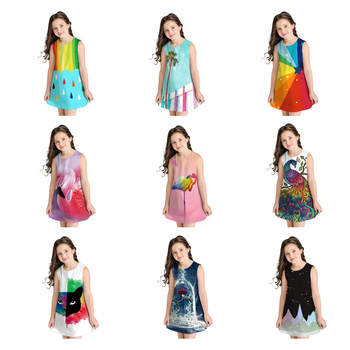 Summer 2020 Kids Teenage Girls Princess Dresses For Girl Casual Sundress Print Dress Teen Children Clothing 7 8 9 10 11 12 Years teen girls summer dress floral print off shoulder fashion chiffon dress bohemian holiday kids dress for 9 10 11 12 14 16 years