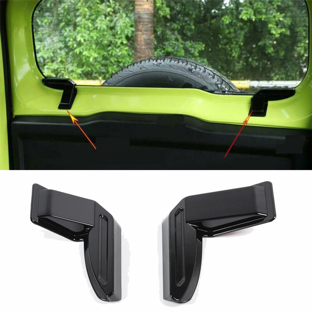Wholesale Durable ABS 2PCS Rear Windshield Heating Wire Protection Cover Black for Suzuki Jimny Sierra JB64 JB74 2019 2020