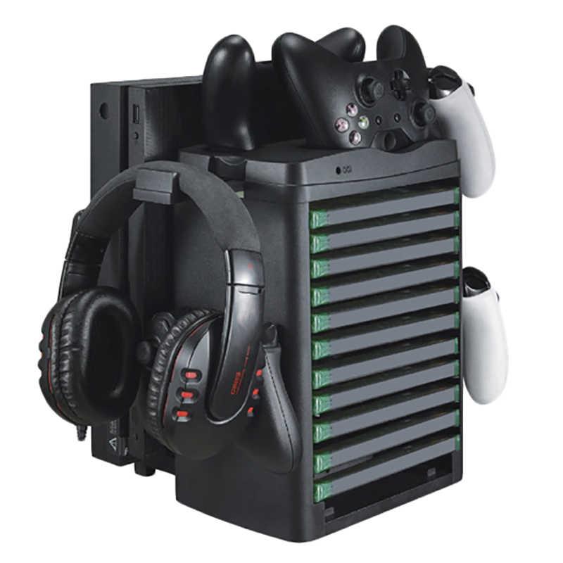 One/x/slim vr 디스플레이 캐비닛 액세서리 slim & pro 수직 냉각 팬 쿨러 컨트롤러 충전기 게임 보드 헤드셋