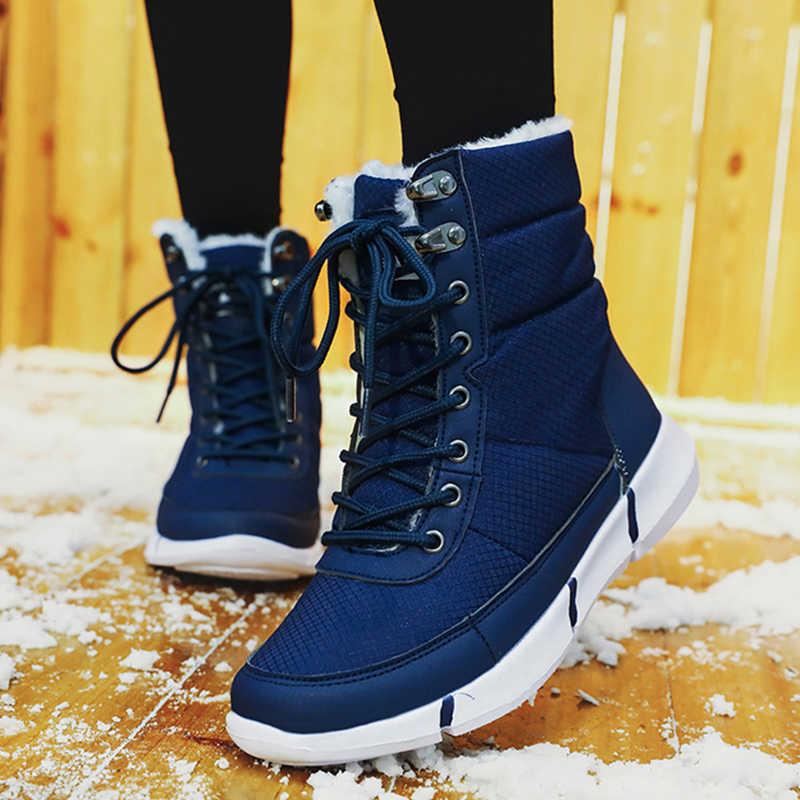 Kış bileğe kadar bot kış erkekler çizmeler ile kürk kar botları lace up kar ayakkabıları erkekler için sıcak kürk peluş erkek ayakkabısı Erkek ayakkabı