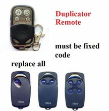 цены на NICE FLO1 FLO2 FLO4 VERY VE garage door remote control duplicator fixed code 433.92mhz  в интернет-магазинах