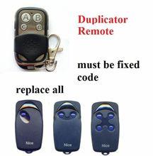 NICE FLO1 FLO2 FLO4 VERY VE garage door remote control duplicator fixed code 433.92mhz