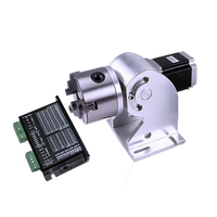 3 claws Rotary axis 80mm max for fiber laser nameplate Marking machine 20w 30w 50w fiber laser metal laser engraver engraving ma