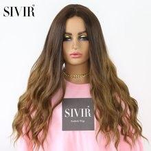 Sivir синтетические парики парик на сетке длинные волнистые