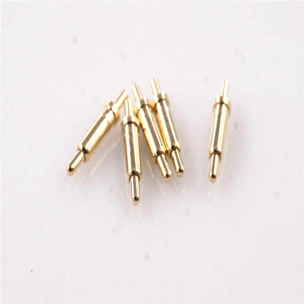 100 pcs สปริงโหลด Pogo Pin ความสูง 7.0 มม.ผ่านหลุม PCB บัดกรีหน้าแปลน 1.8 มม.เส้นผ่านศูนย์กลาง 12V 1Amp
