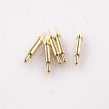 100 pcs Spring Loaded pogo pin height 7.0 mm Through Holes PCB Solder Flange 1.8 mm Diamter Single 12V 1Amp