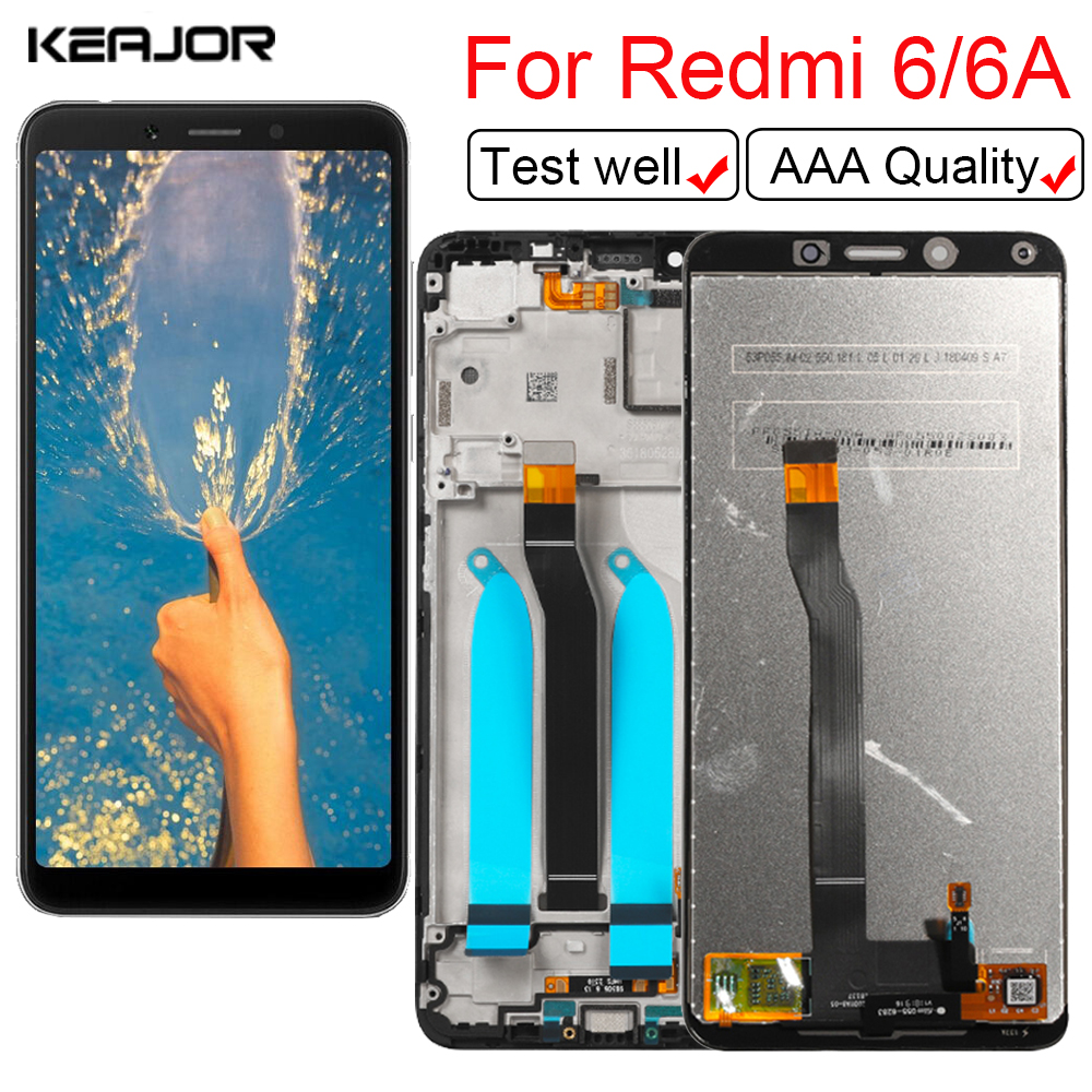 """Display For Xiaomi Redmi 6 6A Touch Screen Replacement Part Digitizer Assembly On For Xiaomi Redmi 6 6A LCD Screen Display 5.45""""(China)"""