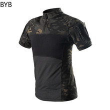 Men Camouflage Combat Tactical Short Sleeve T-shirt ACU CP Tee Tops Military Hunting Hiking Uniform Airsoft Absorb Sweat Costume