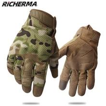 Перчатки мотоциклетные камуфляжные для мужчин и женщин, тактические митенки с пальцами для сенсорных экранов, в стиле милитари