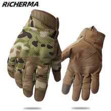 Summer Touch Screen Camo Motorcycle Gloves Men Full Finger Motorbike Riding Gloves Women Motos Motocross Tactical Military