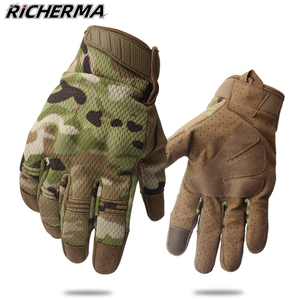 Image 1 - Summer Touch Screen Camo Motorcycle Gloves Men Full Finger Motorbike Riding Gloves Women Motos Motocross Tactical Military