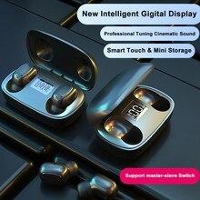 HANGRUI TWS Беспроводные Bluetooth 5,0 мини наушники 6D стерео Бас Беспроводные наушники с сенсорным управлением наушники для iOS Android Phone