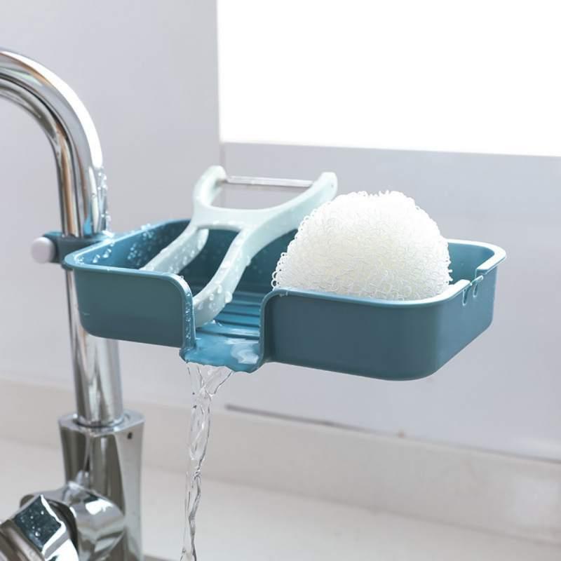 Home Faucet Dish Cloth Clip Shelf Drain Dry Towel Organizer Sink Hanging Storage Rack Storage Holder Sponge Bathroom Kitchen