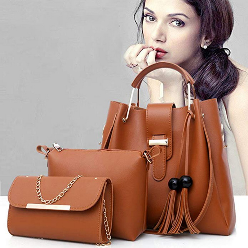 Women Bag Oil Wax WomenS Leather Handbags Luxury Lady Hand Bags With Purse Pocket Messenger Bag