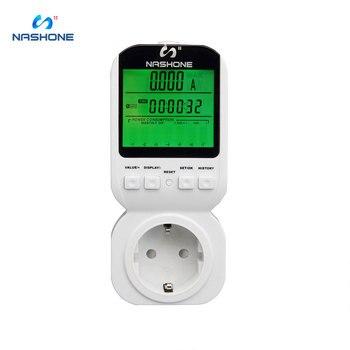 цена на Nashone LCD Digital Wattmeter Power Energy Meter Plug 16A UK EU,AU FR Measuring Outlet High-Accuracy Watt Meter Power Recorder