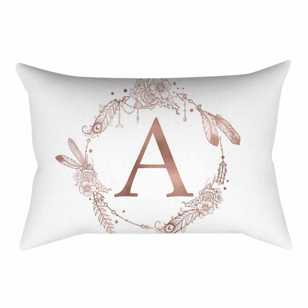 Dekoracja pokoju dziecięcego poduszka w kształcie litery alfabetu angielskiego dzieci Almofada Coussin pluszowa poduszka z materiału na artykuły na przyjęcie urodzinowe