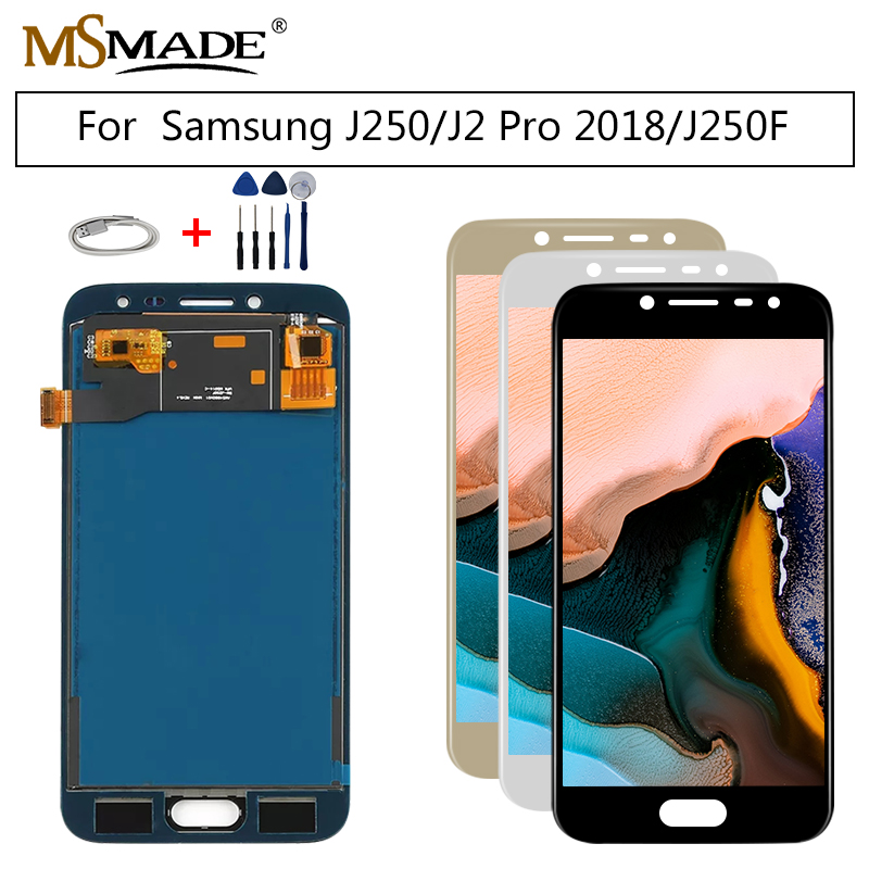 J250 Display Für <font><b>SAMSUNG</b></font> <font><b>GALAXY</b></font> <font><b>J2</b></font> <font><b>Pro</b></font> <font><b>2018</b></font> LCD J250 SM-J250 LCD Display Panel Modul Touchscreen Digitizer Sensor Montage image