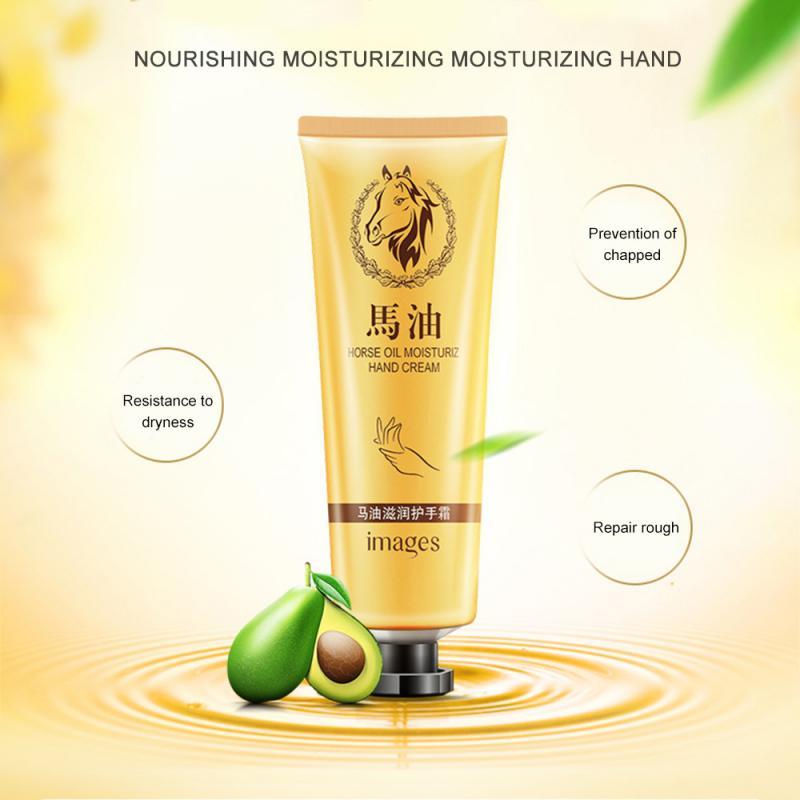 1PC 30g Horse Oil Repair Hand Cream Anti-Aging Soft Hand Whitening Moisturizing Hand Cream Hydrating Hand Cream Skin Care TSLM2