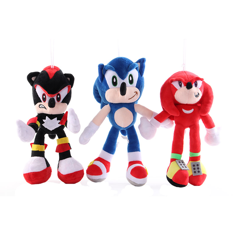 18-30cm Anime Doll Plush Toys Sonic The Hedgehog Blue Sonic Plush Toys Soft Stuffed Kids Gifts Toys For Children Lovely Present