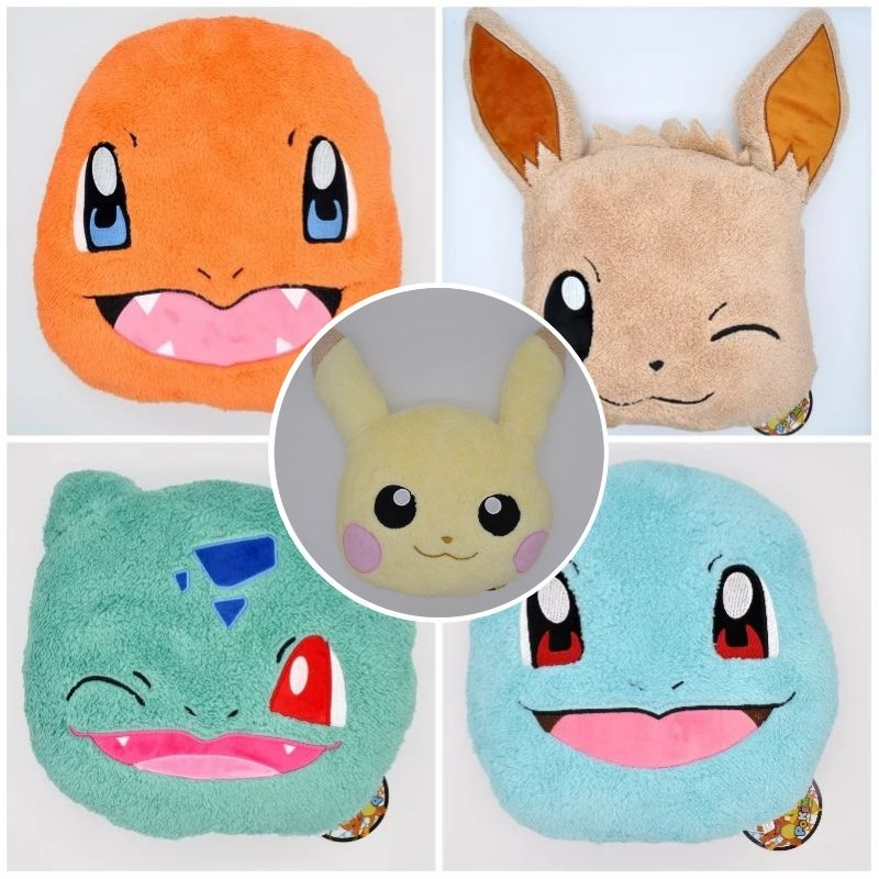 takara-tomy-font-b-pokemon-b-font-pikachu-charmander-eevee-bulbasaur-pillow-animal-plush-stuffed-toys-for-children