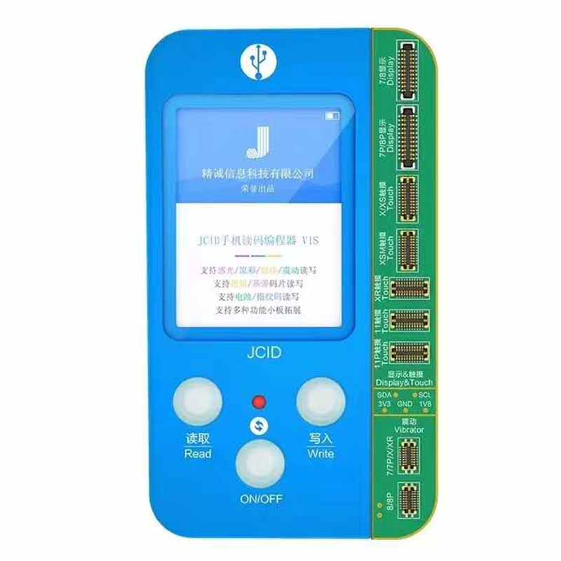 JC V1S For IPHONE 7 8 8P X 11 PRO MAX Photosensitive Original Color Touch Shock Battery Fingerprint Serial Number Programmer