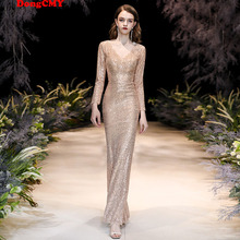 Evening-Dresses Robe-De-Soiree Special-Ocassion Long Dongcmy Sequined Prom-Vestidos Mermaid