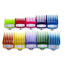 Colorful Guide Comb Multiple Sizes Metal Limited Combs Hair Clipper Cutting Tool D2TA