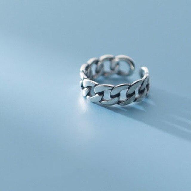 Фото leouerry стерлинговое серебро 925 пробы широкая цепочка кольцо цена