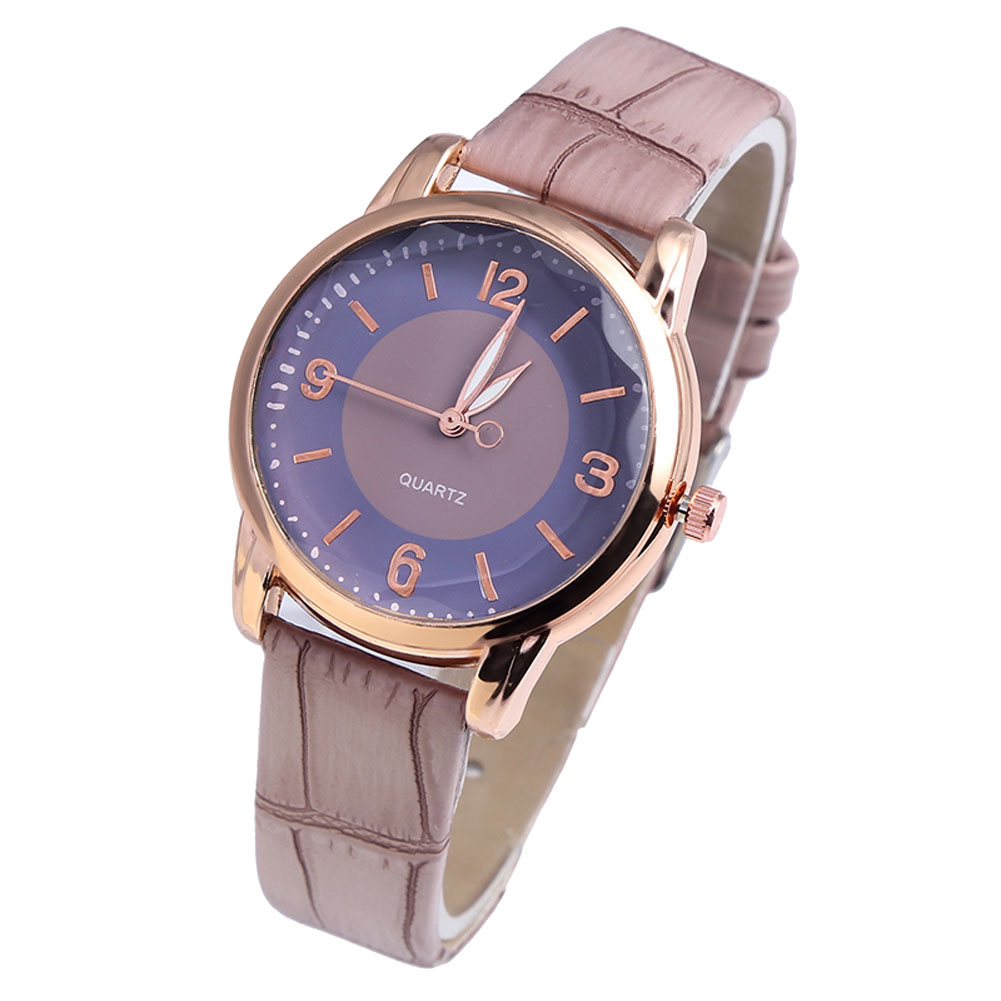 Comfortable Couple Watches Ladies Men Casual Quartz Watches Simple Fashion Round Dial Durable Leather Strap LL@17
