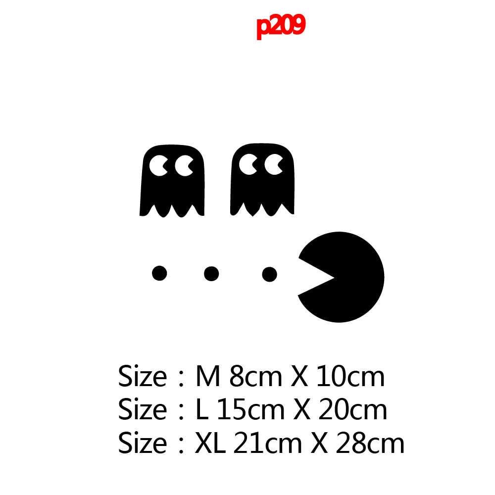 Bonito pac-man lâmpada engraçado portátil decalque removível adesivos portátil capa protetora completa pele
