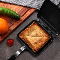 Gas typ sandwich brot form doppelseitige pfanne toast mold backen platte nicht stick energiesparende langlebig pfannkuchen topf