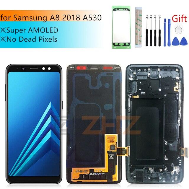 Per Samsung Galaxy A8 2018 A530 LCD di Tocco Digitale Dello Schermo A530F A530DS A530N Assembly di Ricambio Per Samsung A530 LCD