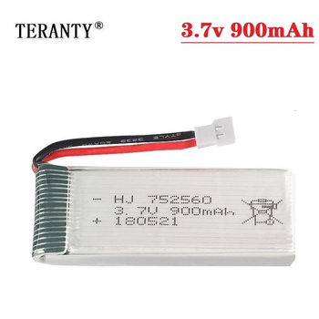 (XH2.54 Plug) 3.7V 900mah Rechargeable Battery For X5 X5C X5SC X5SW 8807 8807W A6 A6W M68 Rc Drone Spare Parts 3.7V lipo Battery image