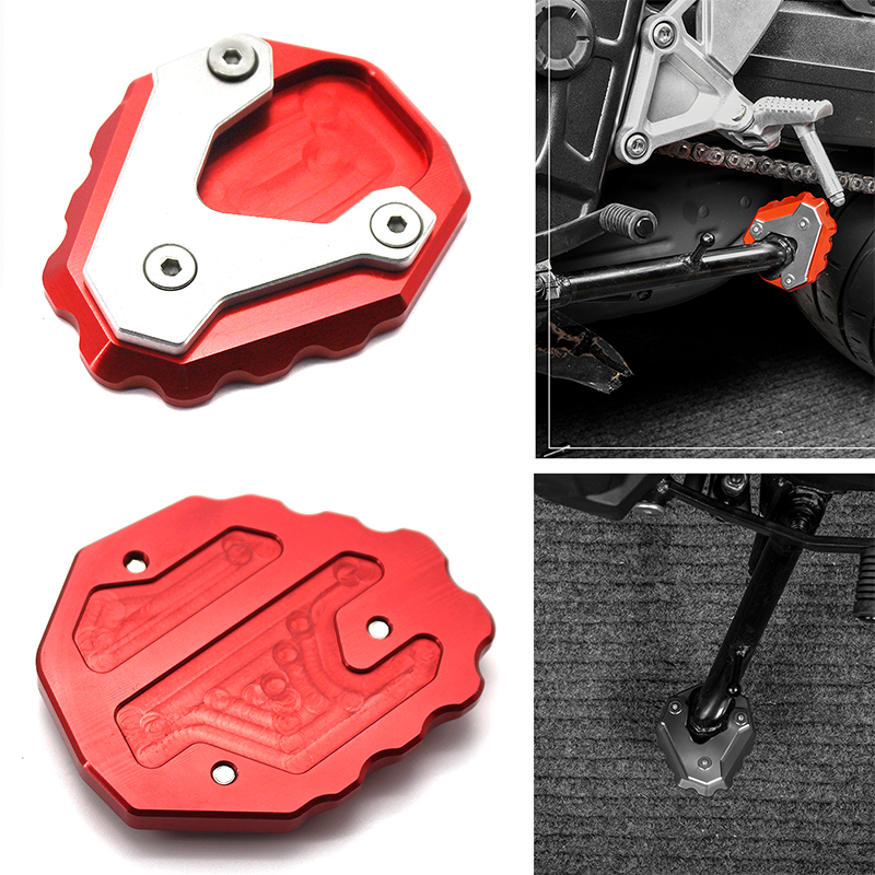 Color : Red Side Stand Moto Bike Kickstand Non-slip Plate Side Enlarge Extension Support Foot Pad Base//Fit For Hon.da CB500X CB-500-X 2019 2020