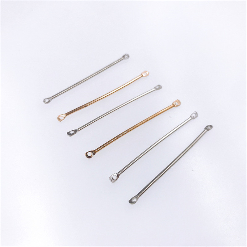 50pcs Double Cylinder Connectors For Earrings Making Findings 15/20/25/30/35/40mm Gold Handwork Jewelry Accessories