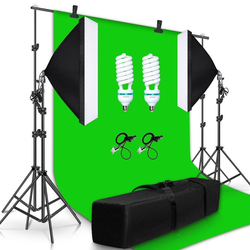 2.6M x 3M/8.5ft x 10ft Background Support System 135W 5500K Umbrellas Softbox Continuous Lighting Kit for Photo Studio Shoot 2