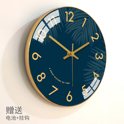 Reloj de pared moderno, reloj nórdico dorado para pared, sala de estar, dormitorio, relojes silenciosos, decoración de pared para el hogar, reloj de pared creativo Duvar Saati FZ211