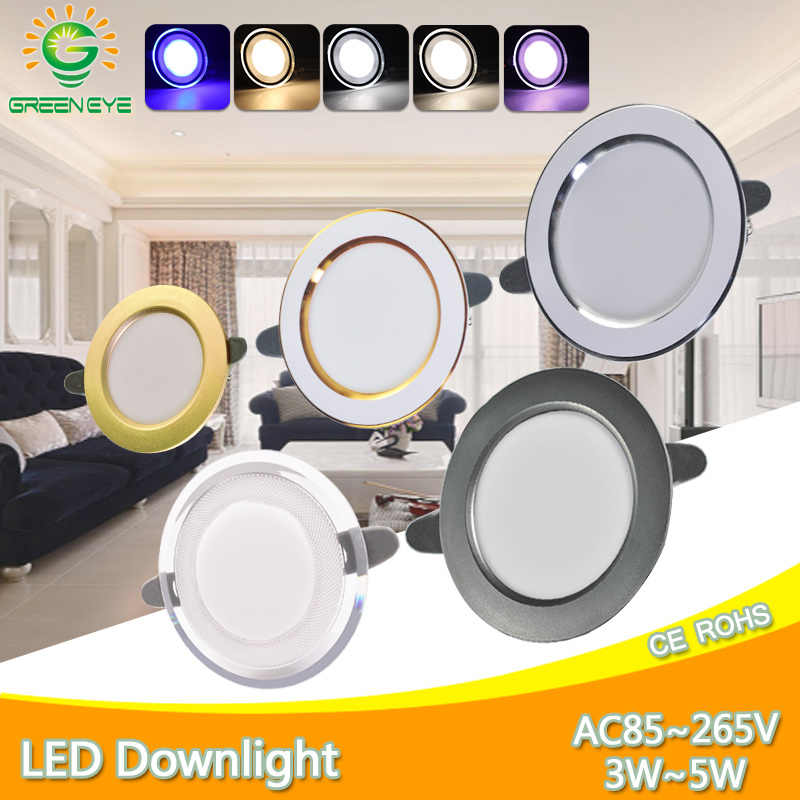 Downlight 3W 5W led Downlight 3000k 4500K 6000K AC220V-240V שקוע led downlight מטבח סלון מקורה שקוע downlight