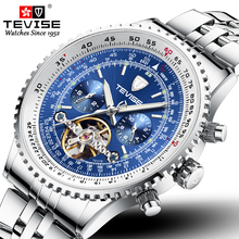 TEVISE Brand Mens Watches Automatic Mech