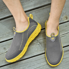 Sneakers Flat-Shoes Mesh Slip-On Casual Men's New Outdoor Soft-Soled Lace-Free Youth